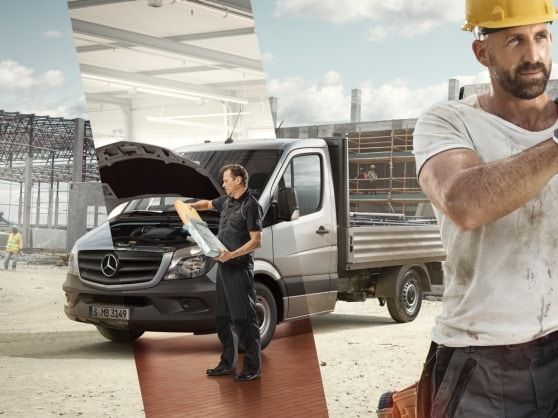 Mercedes-Benz service for transportere